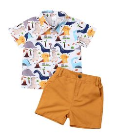 kids baby boy two pieces summer set clothes dinosaur shirt shorts toddler boy clothes sets, Ropa de niña, Baby Outfits, Outfits Niños, Toddler Boy Outfits, Toddler Boys, Baby Kids, Kids Outfits, Little Boy Outfits, Infant Boys, Formal Outfits