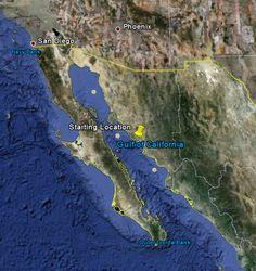 Es llamado por tres nombres,Golfo de Baja California,Mar de Cortez,Mar Bermejo