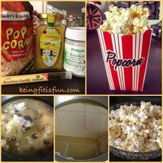 Healthy Coconut Vanilla Popcorn Recipe