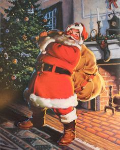 These excellent pictures of Santa Claus will surely gain your attention and interest. Show these pictures of Santa Claus to your kids! Merry Christmas To All, Father Christmas, Santa Christmas, All Things Christmas, Vintage Christmas, Christmas Holidays, Happy Holidays, Christmas History, Christmas Images