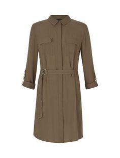 Khaki D-Ring Waist Shirt Dress  | New Look