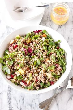 Winter Kale and Wild Rice Salad recipe