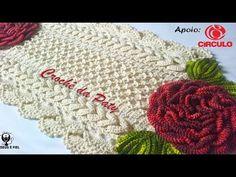 Trilho de Mesa Roseou Tapete de Crochê - YouTube
