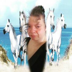 Bild könnte enthalten: 1 Person, Pferd, Himmel und im Freien Cha Seung Won, Giraffe, Horses, Animals, Instagram, Heaven, Outdoor, Photo Illustration, Giraffes