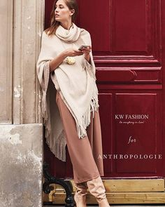KW x Anthropologie @anthropologie #exclusive #fw15 #pfw #fashion #ootd #style #edtorial #poncho #fashionphotography #newyork #nyc #nyfw #lookbook #kwfashion