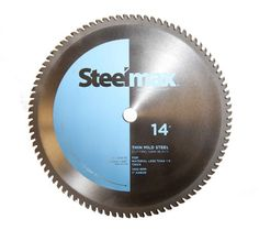 """Tungsten Carbide Tipped 90 tooth, 14"""" diameter blade for cutting thin steel up to 1/4"""" thick.  1"""" arbor designed to fit the #Steelmax S14 metal cutting chop saw ..."""