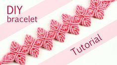 How to make a very nice macramé bracelet with flower petals and beads in pink. This bracelet looks lovely and it's not so hard to make :) Please check out ot...