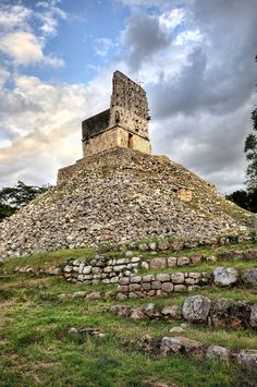 "Known as ""The City of Las Casas Viejas,"" Labná, Uxmal consists of two groups of buildings, linked by a Sacbé. The structure by which the site is known is called El Arco."
