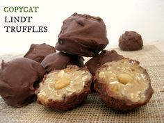 Copycat Lindt Truffles- Better than the original, easy to make (no bake!) and a healthy twist too! Sinfully nutritious!