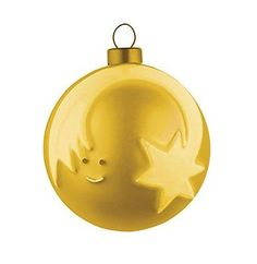"#Alessi amj13 7 ""gd"" #stella cometa glass #christmas tree bauble in gold,  View more on the LINK: 	http://www.zeppy.io/product/gb/2/222189006731/"