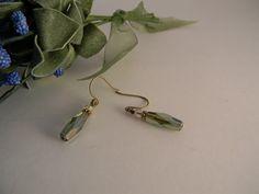 handmade crystal Czech glass and Swarovski crystal earrings. $12.00, via Etsy.