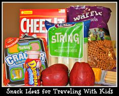 Snack ideas for traveling with kids: beef jerky, carrots, string cheese, apples… Road Trip With Kids, Travel With Kids, Car Travel, Travel Tips, Travel Ideas, Disney Vacations, Vacation Trips, Vacation Ideas, Healthy Travel Snacks