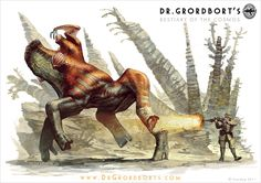 Concept artist and illustrator Greg Broadmore recently updated his blog with some awesome creature designs for Dr. Grordbort's Bestiary of the Cosmos. Most of the creature designs are featured in h...