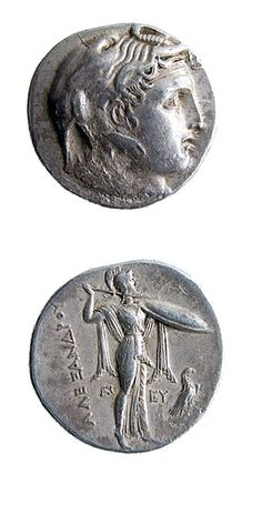Silver Tetradrachm of Ptolemy I, as Satrap - C.4178 Origin: Minted in Alexandria Circa: 314 BC to 310 BC  Collection: Numismatics Medium: Silver