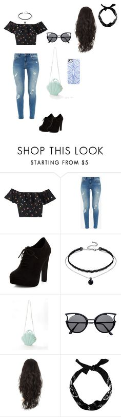"""""""Sem título #20"""" by thecordonvic ❤ liked on Polyvore featuring Rebecca Taylor, Ted Baker, New Look and Uncommon"""