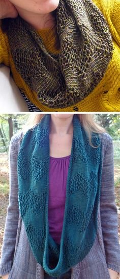 Free Knitting Pattern for Easy Twombly Lines Cowl - This cowl features a zig zag design inspired by the artist Cy Twombly knit in a modification of Barbara Walker's Loose Stitch that gives it great drape and is a quick knit. Designed by Susan Ashcroft. Easy Knitting, Loom Knitting, Baby Knitting Patterns, Knit Cowl, Knit Crochet, Knitted Shawls, Quick Knits, How To Purl Knit, Knitting Accessories