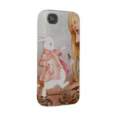 Pesonalized Vintage Alice In Wonderland iPhone Iphone 4 Tough Case by samack