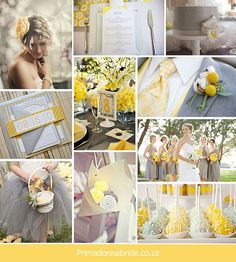 Yellow and Grey wedding colours