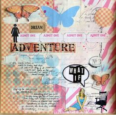 What if (art journal) by Glenda Tkalac | Flickr - Photo Sharing! Stamps by Viva Las VegaStamps!