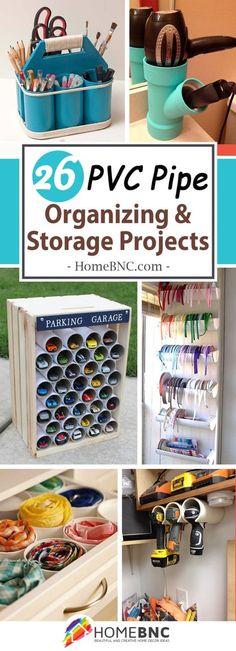 PVC Pipe Organizing and Storage Ideas