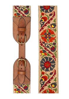 Embroidered belt. So pretty.