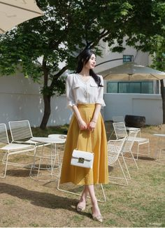 Korean Fashion Style 2019 Trends - Korean Fashion by Attrangs - Korean blouse Korean Girl Fashion, Korean Fashion Trends, Korean Street Fashion, Ulzzang Fashion, Korea Fashion, Cute Fashion, Asian Fashion, Modest Fashion, Skirt Fashion