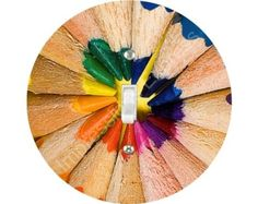 Pencil Color Wheel Single Toggle Switch by ImpressionsExpress, $12.99