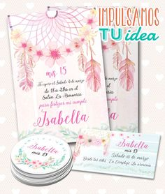 Cumple boho chic, Tarjeta 15 con personal y souvenir imprimible 15th Birthday Party Ideas, 1st Birthday Girls, Birthday Parties, Birthday Souvenir, Boho Chic, Boho Theme, Ideas Para Fiestas, Holidays And Events, Party Themes