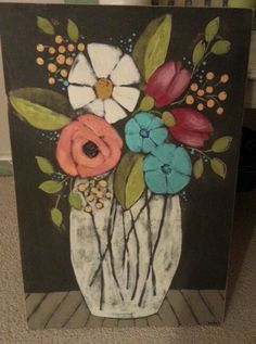 Original acrylic painting on wood. Mary DeMaagd