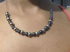 Blue dance necklace