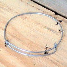 Stainless Steel Adjustable Bangle Bracelet, Nickel Free, Handmade