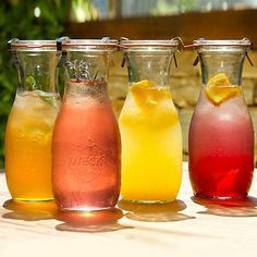 Reusable glass storage jars for homemade teas, fresh squeezed juice, etc.  Wishlisted!