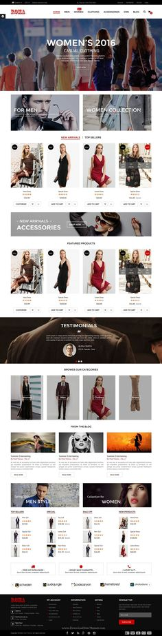 Roma is clean, modern and fully responsive #Prestashop theme for any type #eCommerce #website. Download Now!