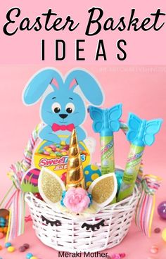 Stunning Easter Basket ideas to make or buy plus the best gifts to put in them to satisfy kids of all ages! Craft Projects For Kids, Easter Crafts For Kids, Crafts For Teens, Diy For Kids, Gifts For Kids, Activities For Kids, Bunny Crafts, 3 Kids, Preschool Activities