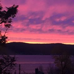 Incredible sunset in the Hudson Valley tonight!  #sunset #hudsonvalley