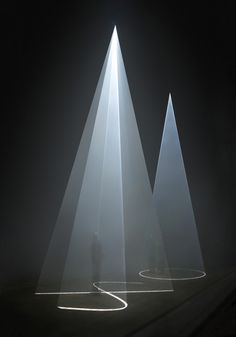 """Light sculpture by Anthony McCall, from """"Five Minutes of Pure Sculpture"""" at the Hamburger Bahnhof museum in Germany. Via #thecreatorsproject."""
