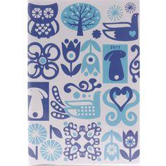Mini Scandinavian Blue Diary 2011 @ V gift shop. via Print and Pattern