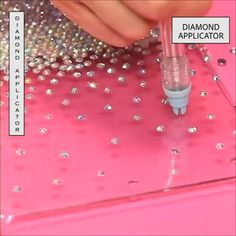 Blingaholic Accessories Diamond Applicator Set allows you to add crystals to embellish any sparkling pattern you want. It fills crystal easily in hard or soft surfaces faster with convenience! Unlike the traditional way of adding crystal, you don't Diy Craft Projects, Diy Home Crafts, Diy Arts And Crafts, Fun Crafts, Sewing Projects, Crafts For Kids, Rock Crafts, Homemade Crafts, Garden Crafts