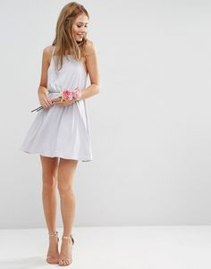 Image 4 ofASOS WEDDING Crepe Cross Back Mini Dress