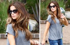 Kate Beckinsale - ombre hair I love this! very natural long and sexy. Hey Norita, can you do my hair like this? :)