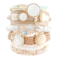 Schöne Armbänder aus verschiedenem DQ Zubehör, Perlen und Leder gemacht