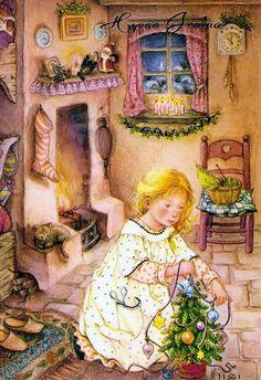 Пусть к вам счастье в Рождество непременно в дом войдет!   Lisi Martin. Обсуждение на LiveInternet - Российский Сервис Онлайн-Дневников