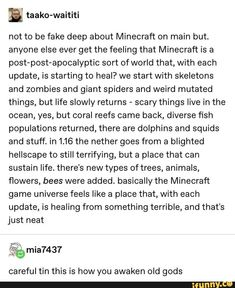 Tap to see the meme Minecraft Funny, Minecraft Games, Minecraft Designs, How To Play Minecraft, Minecraft Stuff, Tumblr Funny, Funny Memes, Jokes, Tumblr Stuff