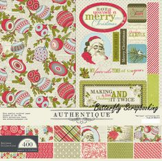 Christmas BELIEVE Collection 12x12 Scrapbooking Paper Crafting Kit Authentique #Authentique