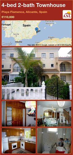 4-bed 2-bath Townhouse in Playa Flamenca, Alicante, Spain ►€110,000 #PropertyForSaleInSpain
