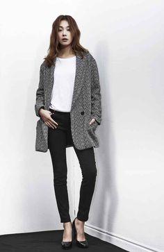 LOOKAST CHAPTER #1 - Wool herringbone single coat