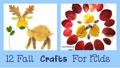 12 Fall Kids Crafts Click here to Learn how to make 12 simple, cute and colorful fall crafts for kids.