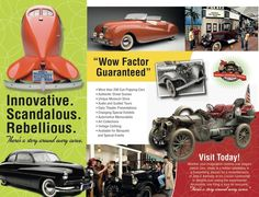 National Automobile Museum Brochure - Design by Design on the Edge