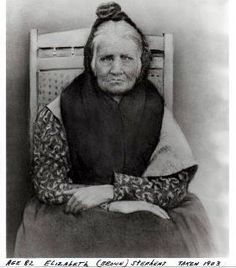 """Elizabeth """"Betsy"""" Brown Stephens, a Cherokee woman who walked the Trail of Tears."""