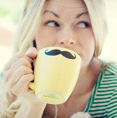 DIY Mustache Mug.